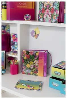 Isn't the pink pen pot very cute! All the beautiful colours in the Tropique stationery collection will definitely add a splash of colour to your work space. Manicure Set, Color Splash, Exotic, Stationery, Colours, Space, Projects, Prints, Fun