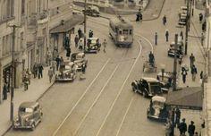 Avenida Otávio Rocha na década de 1940 em detalhe ampliado.