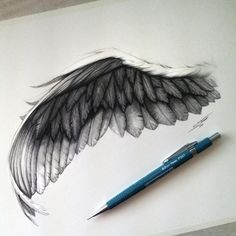 Black angel wing