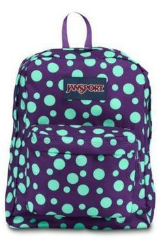 c3f07416915c JanSport SuperBreak  PolkaDots Cute Backpacks