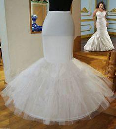 New Mermaid Trumpet Style Wedding Gown Petticoat Crinoline Underskirt