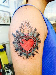 Heart on my sleeve by Candi Kinyōbi at Tuesday Tattoo, San Francisco