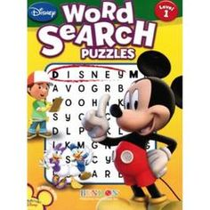 Disney® Mickey Mouse Word Search Puzzle Book: 85 Puzzles Puzzle Books, Puzzles, Word Search, Mickey Mouse, Disney Characters, Fictional Characters, Words, Puzzle, Fantasy Characters