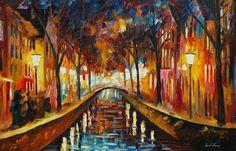 Amsterdam evening - Afremov