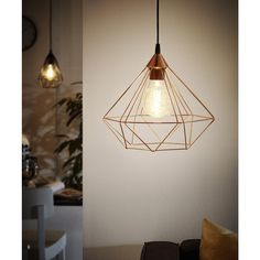 Eglo 94194 Tarbes Vintage Copper Wire Cage 1 L& Pendant Light 325mm  sc 1 st  Pinterest & Black cage pendant light Had these in local Forsyths shop - idea for ...