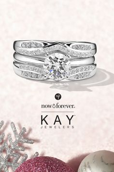 No mistletoe needed this year! Show your love with a diamond solitaire engagement ring and enhancer from the Now & Forever collection at Kay! Neil Lane Engagement, Solitaire Engagement, Nail Jewelry, Jewlery, Pictures Of Barbie Dolls, Surface Studio, Anime Girl Crying, Homemade Alfredo, Kay Jewelers