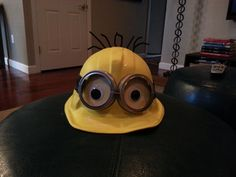My DIY Minion Hat for Silly hat day at my son's school.