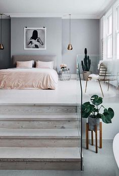 Find your serenity with these 50 White Bedroom Ideas - The Trending House Best Living Room Design, Room Design Bedroom, Girl Bedroom Designs, Room Ideas Bedroom, Home Room Design, Home Decor Bedroom, Living Room Designs, Master Bedroom, Wood Bedroom