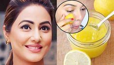 Homemade lemon facial masks that improve the skin tone and lighten scar marks Lemon Facial, Lemon Face Mask, Lemon On Face, Lighten Scars, Cellulite, Bright Skin, Clean Face, Gel Eyeliner, Skin Brightening