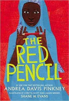 Amazon.com: The Red Pencil by Andrea Davis Pinkney, Shane Evans: Books  Recommended age: 9+  Finally, Amira is twelve. Old enough to wear a toob, old enough for new responsibilities. And maybe old enough to go to school in Nyala-- Amira's one true dream.