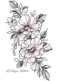 Dream Tattoos, Rose Tattoos, Body Art Tattoos, Girl Tattoos, Tatoos, Flower Tattoo Drawings, Flower Tattoo Designs, Flower Designs, Flor Tattoo