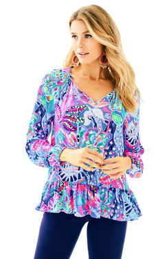 Check out this product from Lilly - Tensley Top  https://www.lillypulitzer.com/product/tensley-top/11399.uts