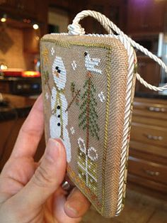 For the Love of Cross Stitch:  ornament finishing; some info