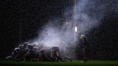 Une mêlée lors d'un match Worcester-Bath, en championnat anglais, le 1er novembre 2013. | LAURENCE GRIFFITHS / GETTY IMAGES SPORT