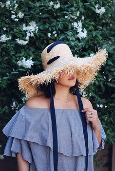 DIY Lola Hats Fringed Raffia Hat