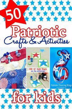 Check out this HUGE list of fun patriotic kids crafts and activities. These ideas are so cute and easy. Great ways to introduce being patriotic with your children.
