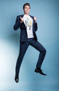 """Stylizacja na studniówkę z garniturem Marco 2 A13/166 P - Kolekcja studniówkowa 2013/2014 """"Endings&Beginnings"""" marki Giacomo Conti - garnitury studniówkowe za 599zł + koszula za 1zł + krawat/mucha za 1zł #giacomoconti"""