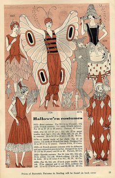 Butterick 1929 Costume Patterns by dragonflydesignstudio, via Flickr