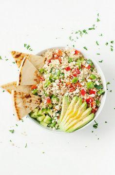 Greek Quinoa Bowl - holy yum