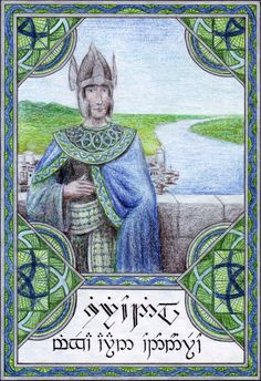Siriondil minqëa aran Ondonórëo Siriondil was son of king Atanatar I. He was the eleventh king of Gondor and his reign directly preceded . Siriondil of Gondor Tolkien, Lotr Swords, History Of Middle Earth, Painted Wardrobe, John Howe, Geek Out, Lord Of The Rings, Middle Ages, The Hobbit