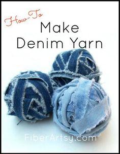 How to Make Denim Yarn, a Fiberartsy.com Tutorial