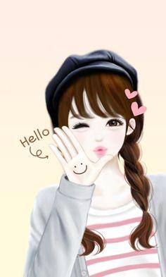 Hello Wonderful ImagesCute CartoonGirl