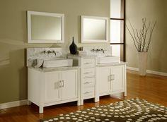 bathroom double vanity with center tower. Buy J International X Horizon Double Vanity Sink Console In Best Design Bathroom  With MTD Vanities Cypress 72 inch Modern