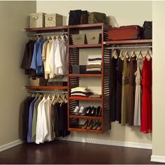 John Louis Home Collection Deluxe Red Mahogany Closet System (Deluxe Closet  System Red Mahogany) (Wood)