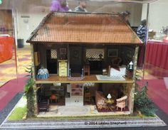 """Quarter Scale Dollhouses From the Spring 2014 Seattle Dollhouse Show: Interior of """"Mr. McGregor's House""""  by Rosemary Shipman"""