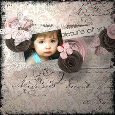 """Page réalisée avec le nouveau kit de Fanette Designs """"Lily Rose"""" (Maria Gvedashvili) :  http://www.pickleberrypop.com/shop/manufacturers.php?manufacturerid=148 http://www.digitalscrapbookingstudio.com/store/index.php?main_page=index&cPath=13_589"""