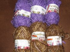 Yarn Destash.  Festival Mix Fiber yarn.  6 full by NammersCrafts
