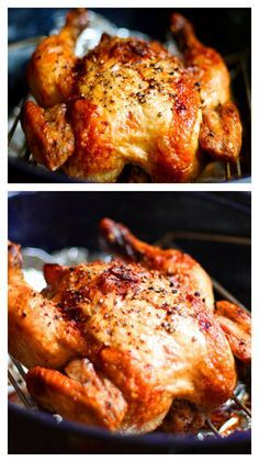 Roasted Chicken Crispy Roasted Garlic Chicken ~ Learn how to make your own roast chicken. It is SO easy.Crispy Roasted Garlic Chicken ~ Learn how to make your own roast chicken. It is SO easy. Crispy Roasted Chicken, Roasted Garlic, Whole Roasted Chicken, How To Roast Chicken, Roast Chicken Seasoning, Roast Chicken Marinade, Rosted Chicken, Chicken Giblets, Roast Chicken Dinner