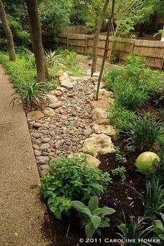 How to Install a Dry Creek Bed: beautiful way to control drainage in landscaping by tina66