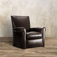 Duvall Leather Swivel Recliner In Lear Chocolate