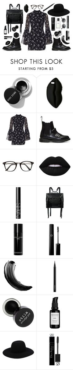 """everybody here is fake happy too"" by lmfab ❤ liked on Polyvore featuring STELLA McCARTNEY, Dr. Martens, Lime Crime, Swissco, NARS Cosmetics, McQ by Alexander McQueen, Bobbi Brown Cosmetics, Maybelline, MAC Cosmetics and Root Science"
