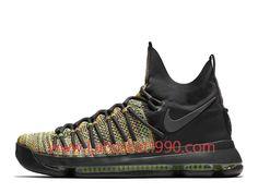 the latest d5dee 73c5f Nike KD 9 Elite Multicolor AA0942 900 Chaussures Nike Prix Pas Cher Pour  Homme Noir Brun