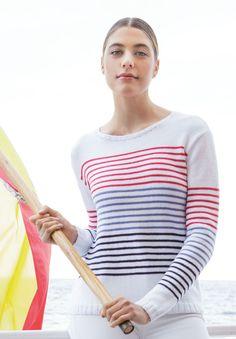 Lana Grossa PULLI GLATT RECHTS MIT RINGELN Summer Lace - FILATI Handstrick No. 67 - Modell 37 | FILATI.cc WebShop