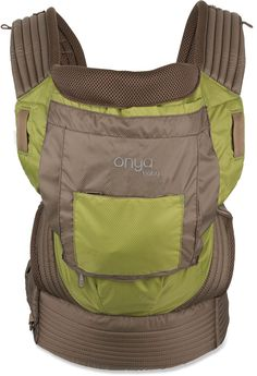 Onya Baby Outback Baby Carrier at REI, great present for an expecting family!! Also, turns almost any adult chair into a seat for baby.