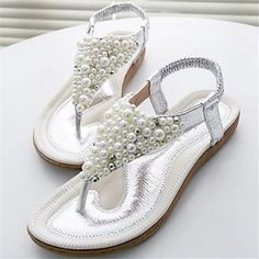 Crazy Summer Sale, July 19-25: Up To 90% Off! Use code SUMMER20 for an extra discount when you spend $180+. Save 58% when you buy these sandals during our sale. Toe Ring Sandals, Toe Rings, Dress Sandals, High Heels Stilettos, Shoes Heels, Bling Flip Flops, Floral Shoes, Travel Shoes, Silver Dress