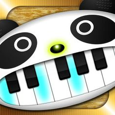 Toy-piano of panda face. Eyes are drum and tambourines. The nose is cymbals. Enjoy playing with kids!