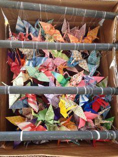 How to transport 100 strands of cranes Origami Wedding, Crane, Strands