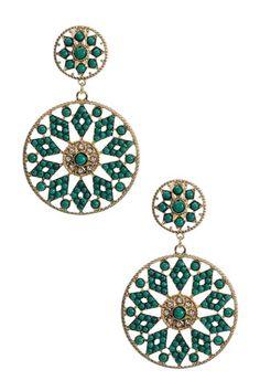 Amrita Singh- turquoise benyamin earrings