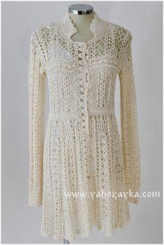 Кружевное платье крючком от Ванессы Монторо. Связать платье крючком схемы   Я Хозяйка