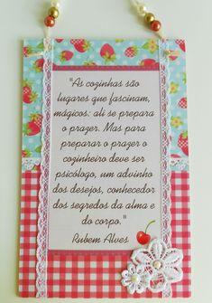 """Plaquinha """"Poesia na cozinha"""" http://www.elo7.com.br/plaquinha-poesia-na-cozinha-rubem/dp/4E6D46"""