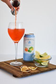 Georgian Bay Spirit Co. Dried Orange Slices, Dried Oranges, Alcoholic Drinks, Cocktails, Georgian, Wine Glass, Fill, Shots, Cocktail