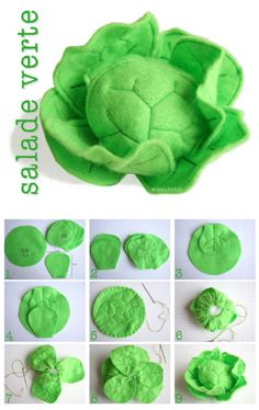 salade en feutrine | felt head of lettuce