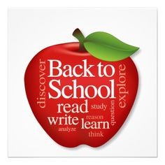 I just like this image. :)  back to school banner handmade   Invite, Back to School, Apple for the Teacher