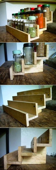 Spice Rack Made From Pallet Wood --- #pallets