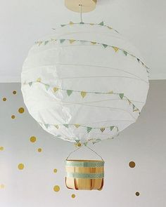 Hottest Pics IKEA REGOLIT Hack - the simple ceiling lamp can be so beautiful Popular An Ikea kids' space continues to intrigue the children, because they are offered a whole lot Lampe Ballon, Diy Ballon, Ikea Kids, Ikea Children, New Swedish Design, Home Organization Hacks, Baby Room Decor, Hot Air Balloon, Lampshades