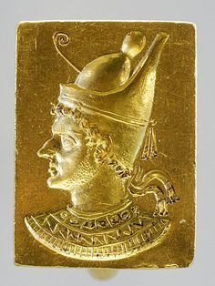 Ring with engraved portrait of Ptolemy VI Philometor, Greek (3rd–2nd century BCE)